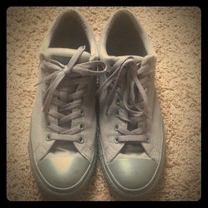 Grey Converse size 11 men's with padded ankle